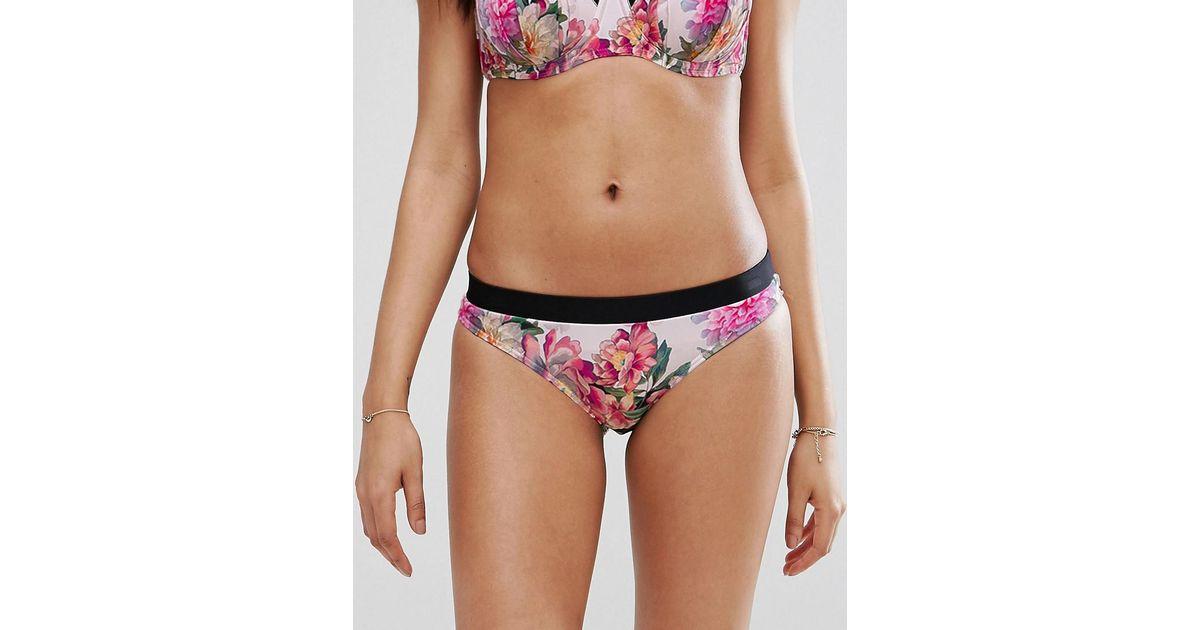 7ebbc4c310 Ted Baker Adirif Painted Posie Bikini Bottom - Lyst