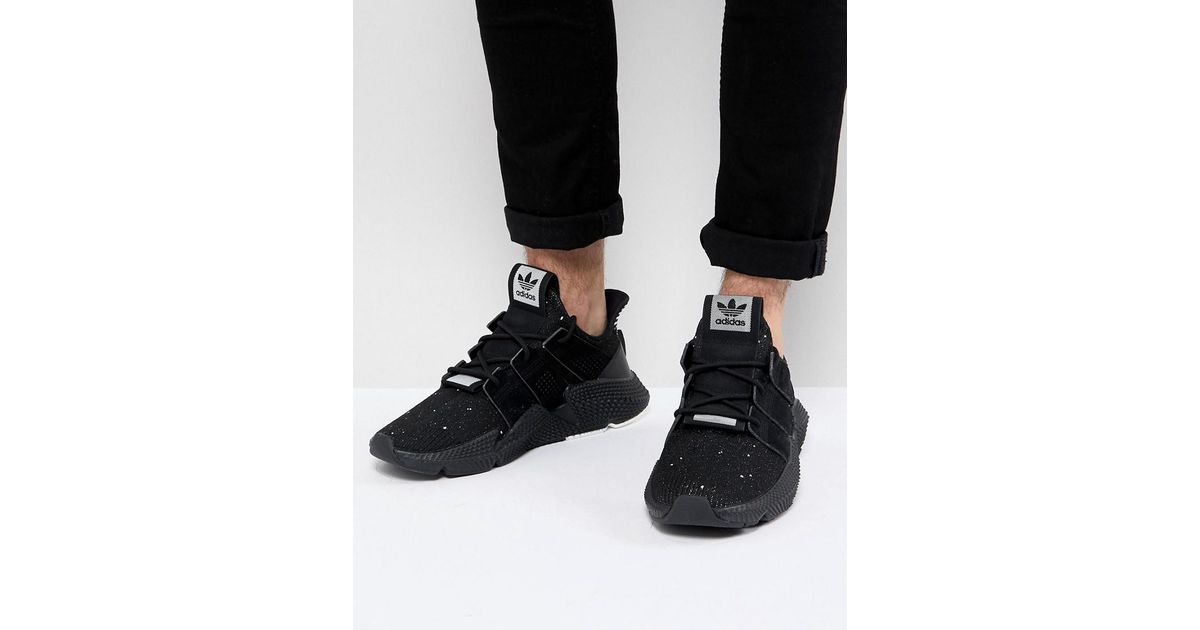 outlet store 03c72 61980 adidas originals prophere trainers in black b37453