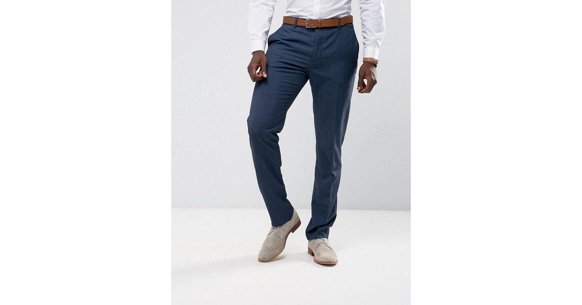 Homme Costume Pantalon De Contrôle Slim Fit Dans La Marine - Mangue Marine kLozxqY