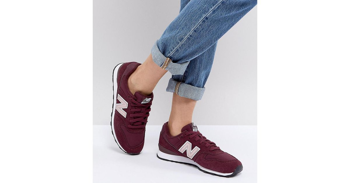 best authentic 1e884 34b54 New Balance Red 996 Trainers In Metallic Burgundy