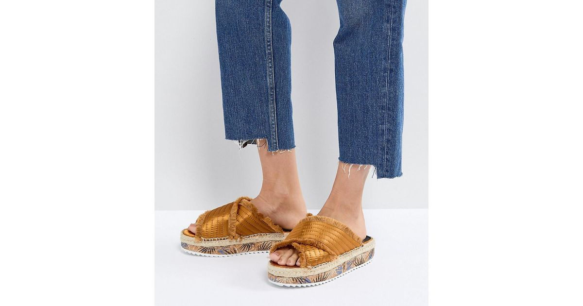 Adiva Mustard Flatform Espadrille Sandals - Yellow Sixtyseven UFNls
