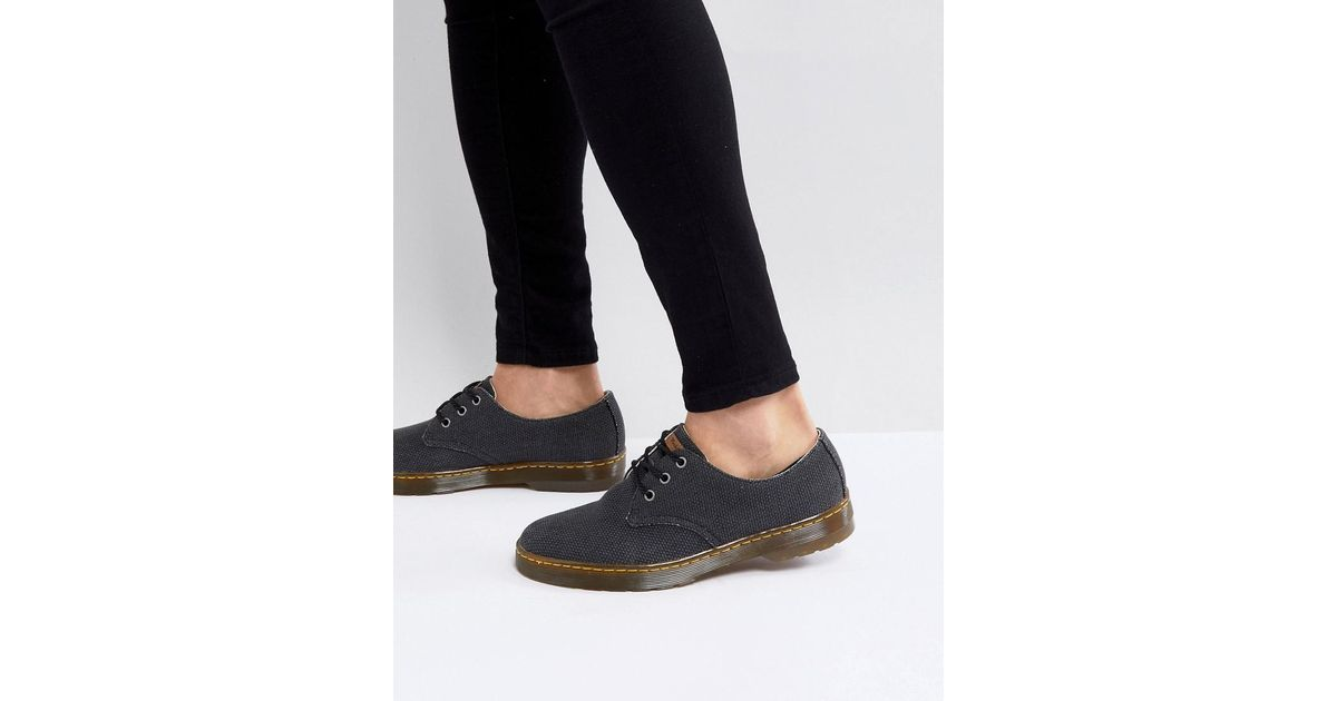 2018 sneakers preview of many styles Dr. Martens Black Delray 3-eye Shoes In Heavy Canvas for men