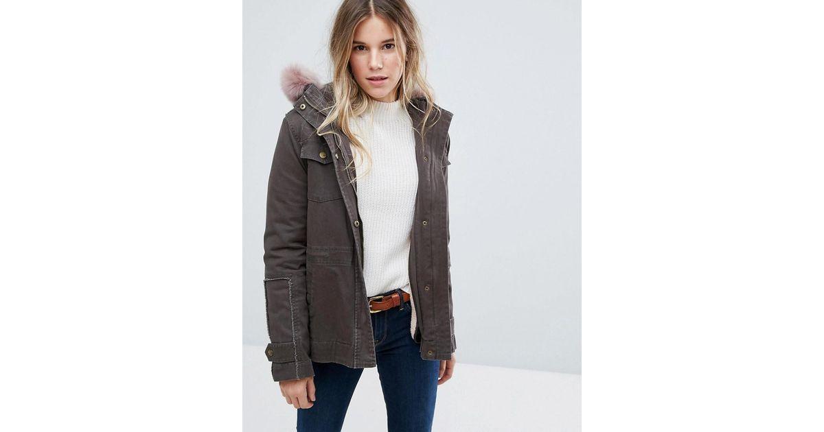 5198eaaa0fd Ugg Green Field Jacket With Toscana Shearling Fur Hood
