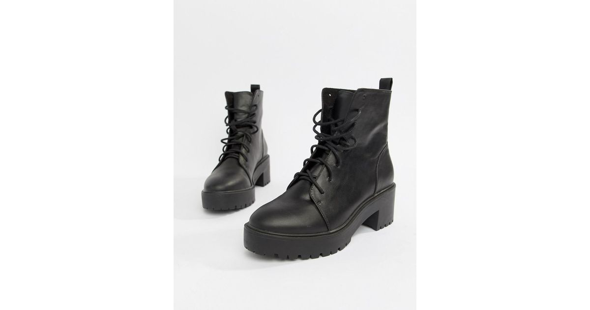 240c26db2c0 ASOS Black Raider Chunky Lace Up Boots