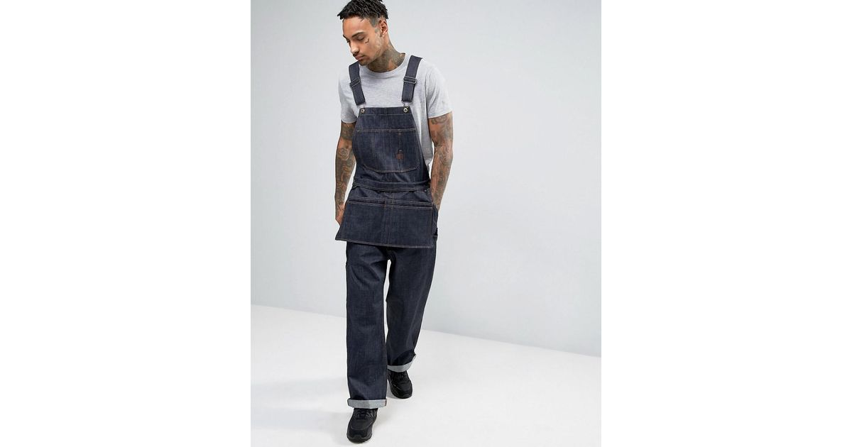 new arrival cdfcc 7da6a G-Star RAW Blue Ny 5th Utility Loose Overall for men