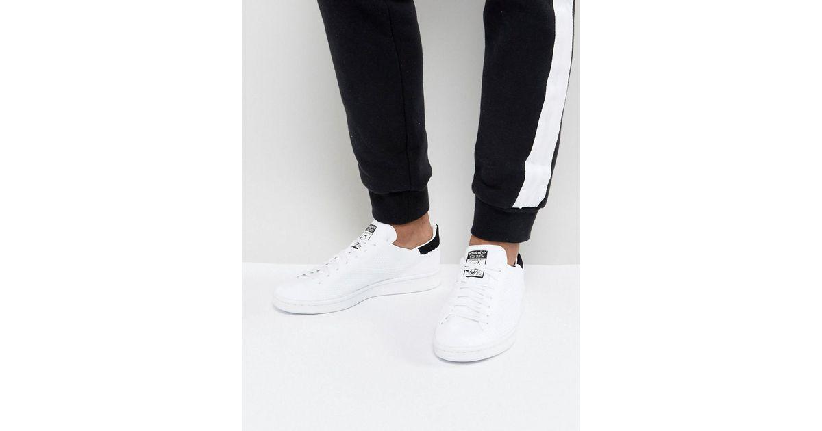 Lyst adidas Originals Stan Smith primeknit zapatillas en blanco