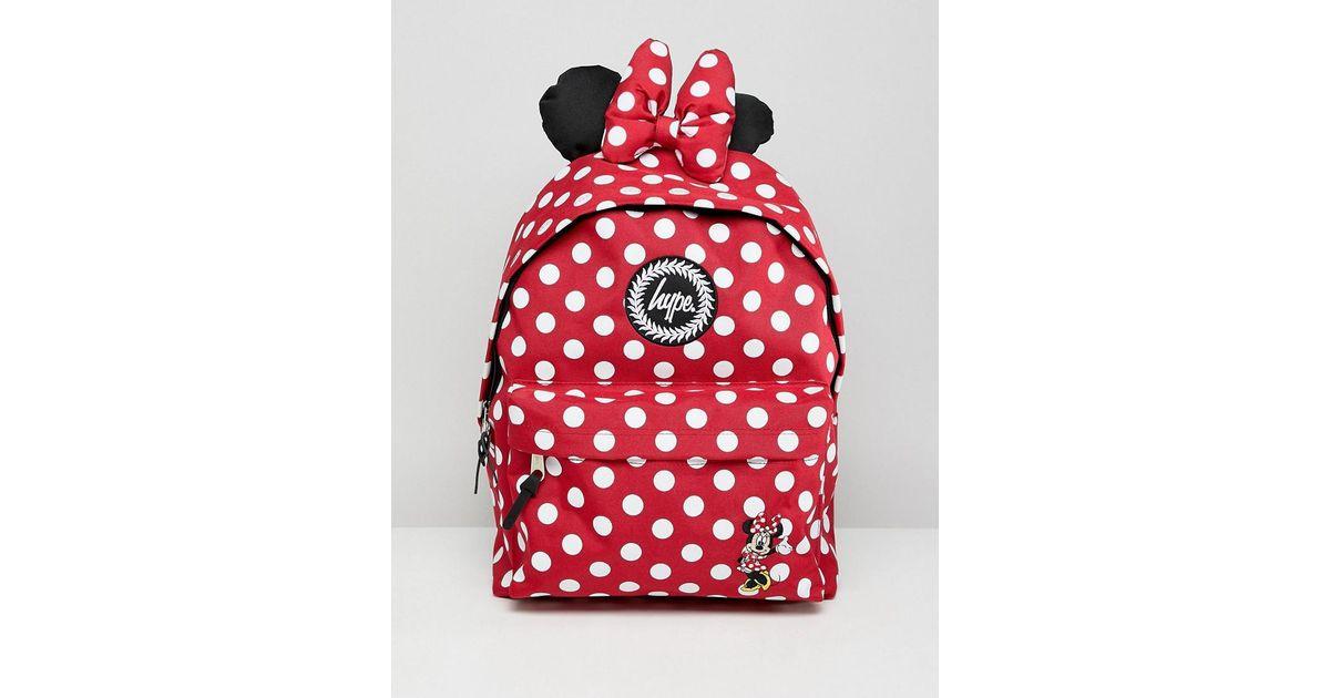 Coloris Rouge Mouse Sac En Minnie Dos Motif Lyst Hype Rw0pC8qCn
