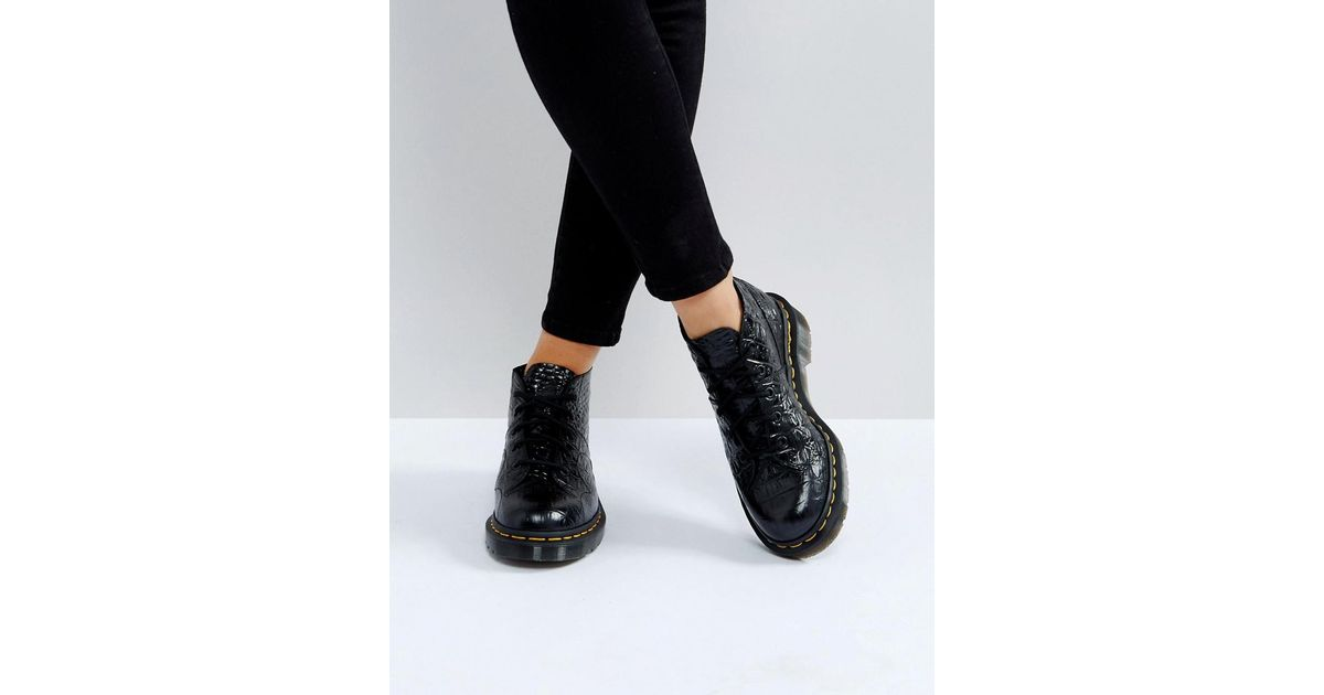 on sale los angeles top fashion Boots Dr.Martens Church Stud Black Womens Patent Lamper Lace ...