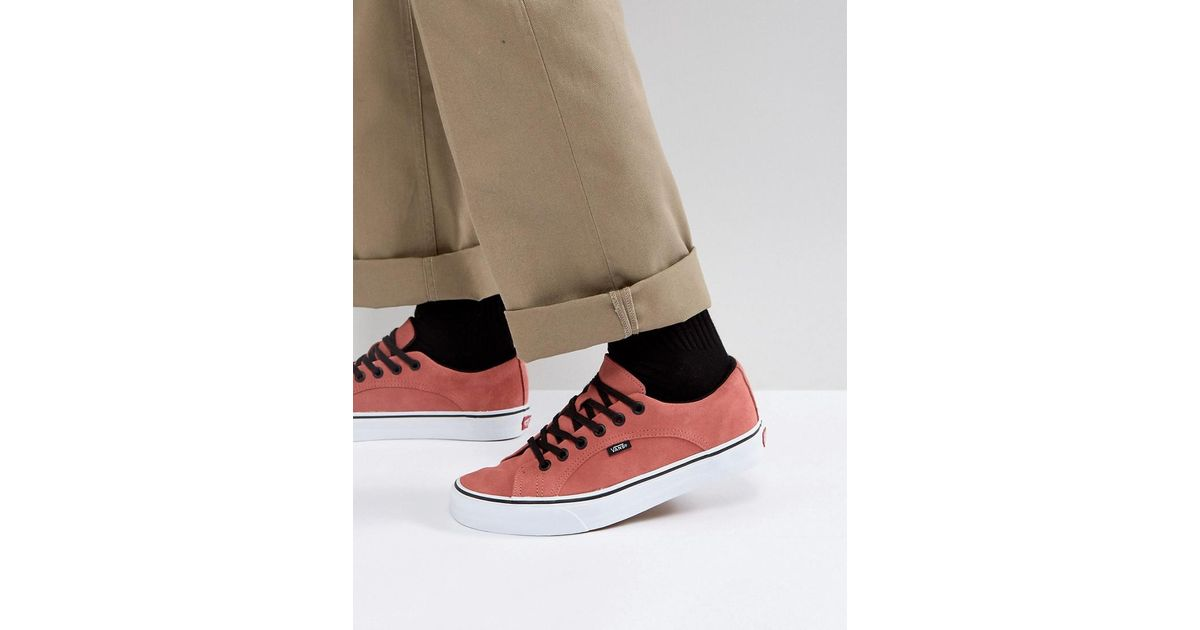 1bc242ab10a194 Vans Lampin Trainers In Red Va38fiqvj in Red for Men - Lyst