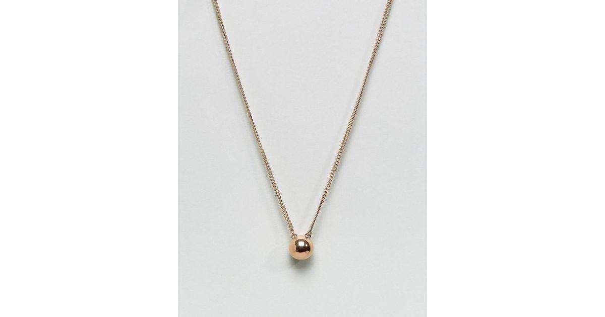 Dyrberg Kern Dyrbergkern Simple Pendant Necklace In Gold Metallic