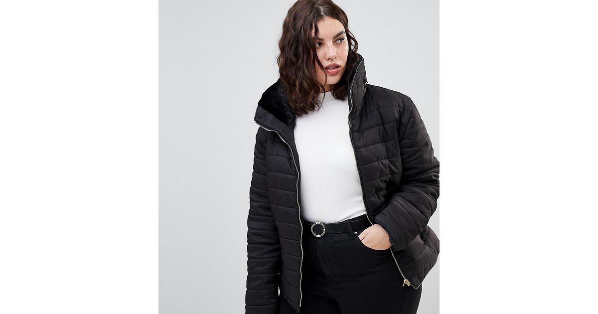 0d0730719a4 AX Paris Wet Look Cropped Jacket in Black - Lyst