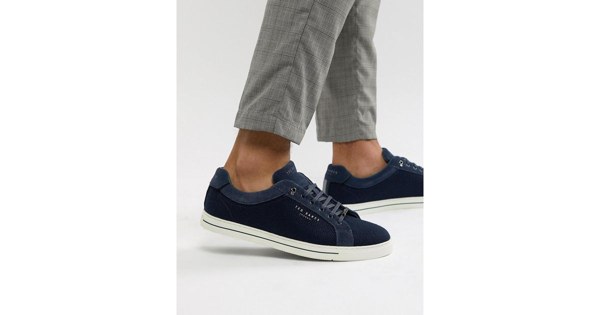 97cb30adb988ca Ted Baker Werill Trainers In Navy in Blue for Men - Lyst