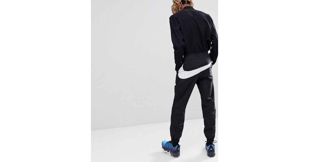search for best top-rated professional great discount sale Nike Vaporwave Joggers With Large Swoosh In Black Aj2300-010 for men
