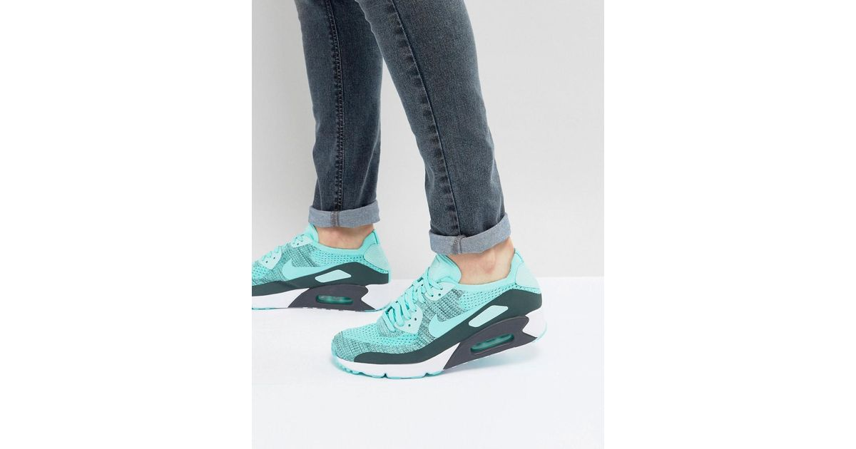 Nike Air Max 90 Ultra Flyknit Hyper Turquoise 875943 301  875943 301