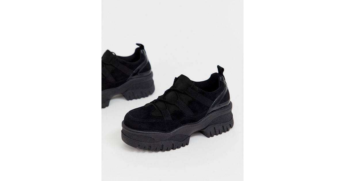 ASOS Denim Distance Chunky Trainers in