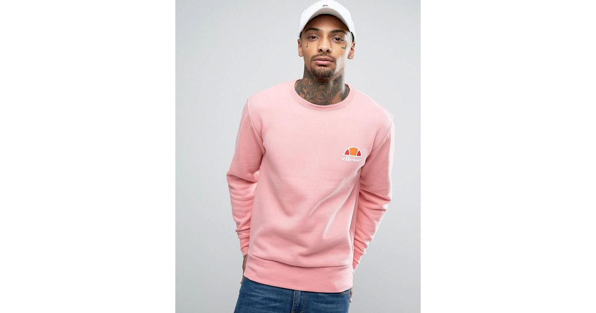 ellesse sweater pink laces
