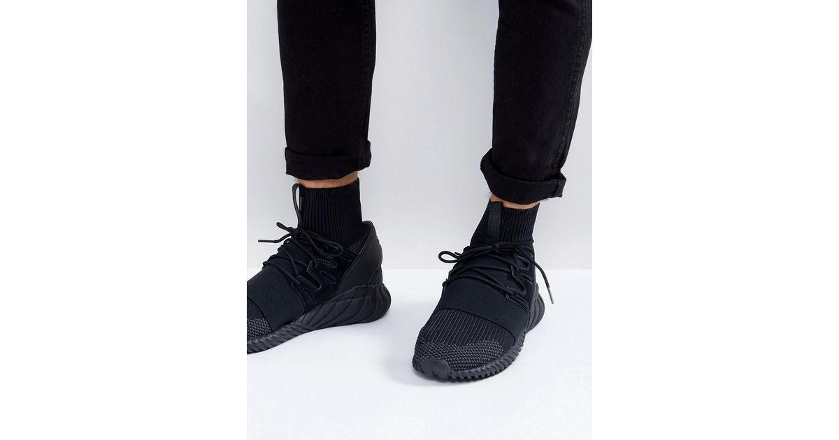 reputable site 026a1 1f561 Adidas Originals Tubular Doom Primeknit Sneakers In Black Da9023 for men