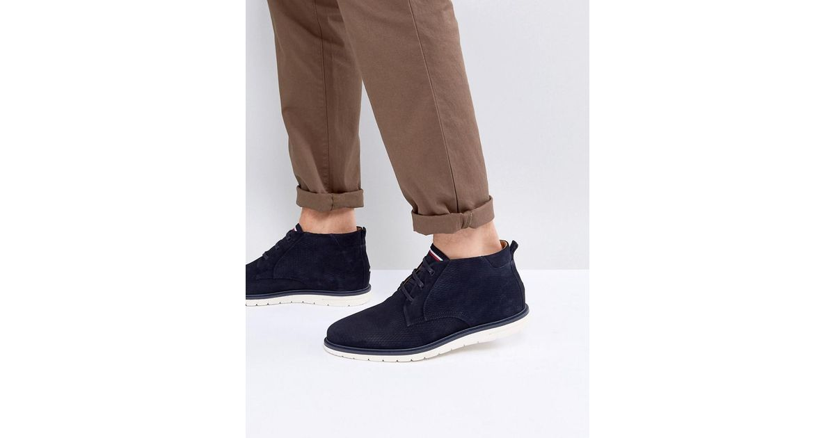536a6fba06d9de Lyst - Tommy Hilfiger Joseph Perforated Suede Desert Boots In Navy in Blue  for Men