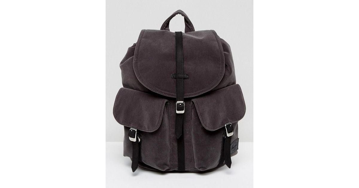 af3a05ed06 Lyst - Herschel Supply Co. Velvet Mini Dawson Backpack in Gray