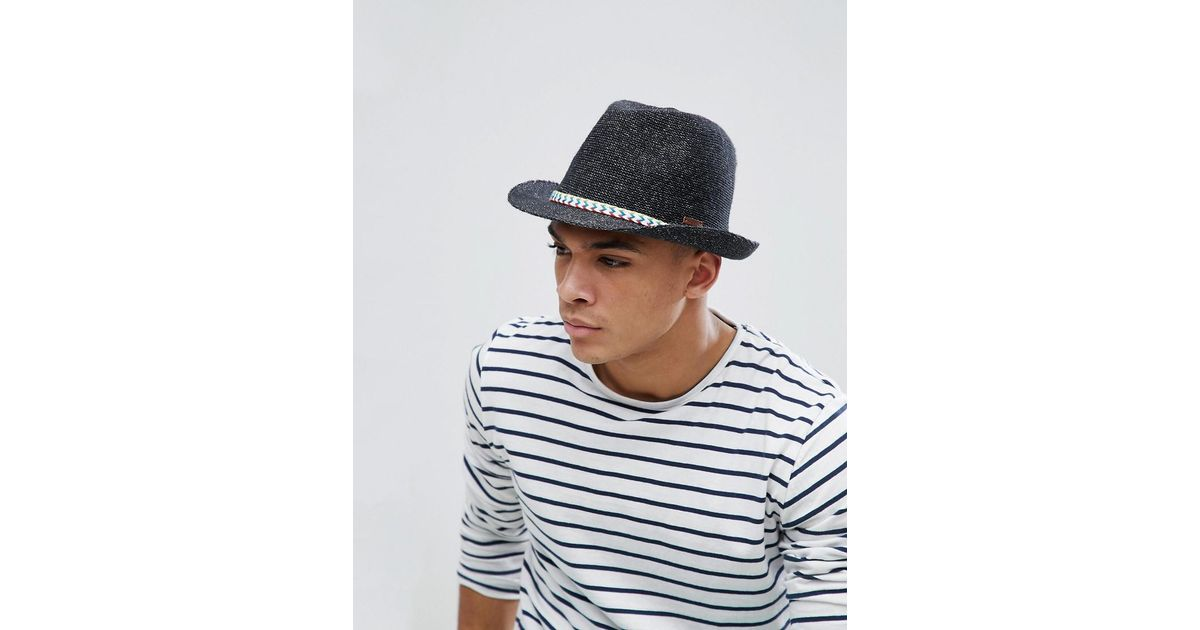 8adc09615ce Barts Quest Summer Trilby Hat in Black for Men - Lyst