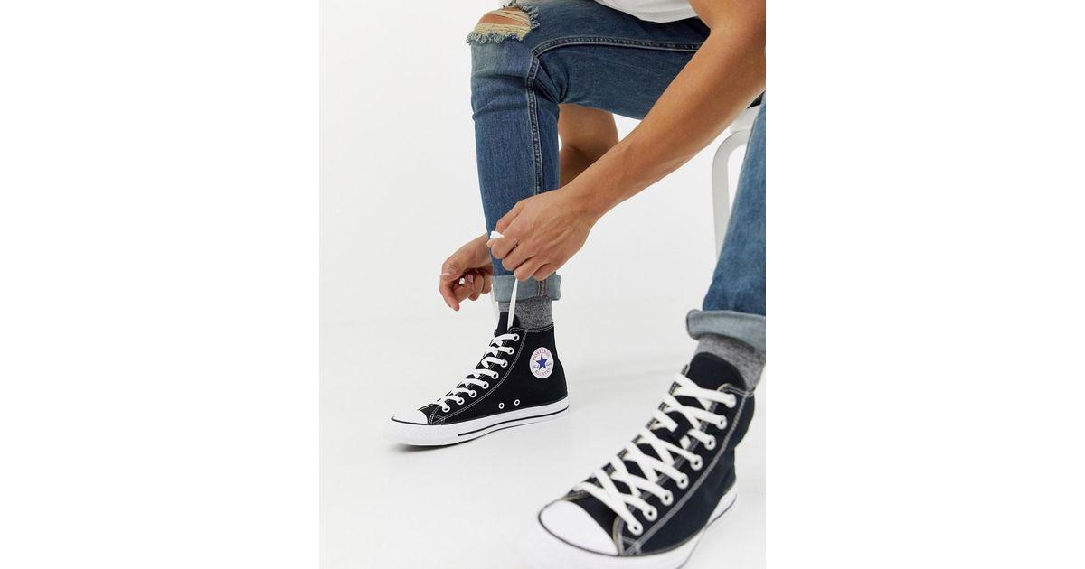 Converse Chuck Taylor Hi Sneakers In Black for men