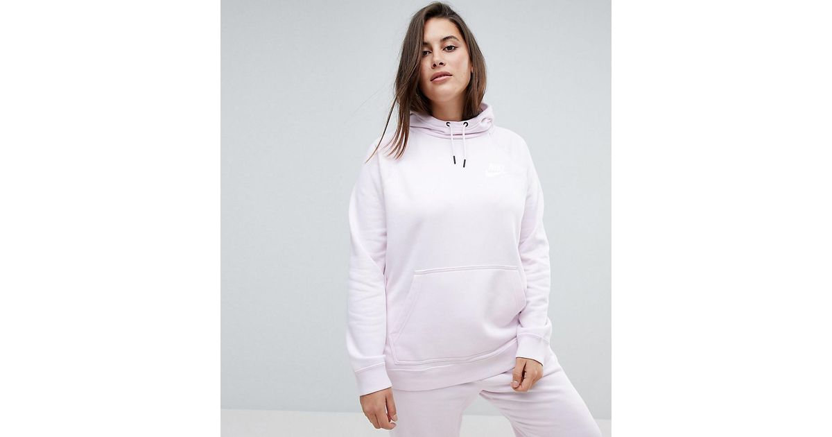 best supplier official famous brand Nike - Plus Rally Pullover Hoodie In Pearl Pink - Lyst