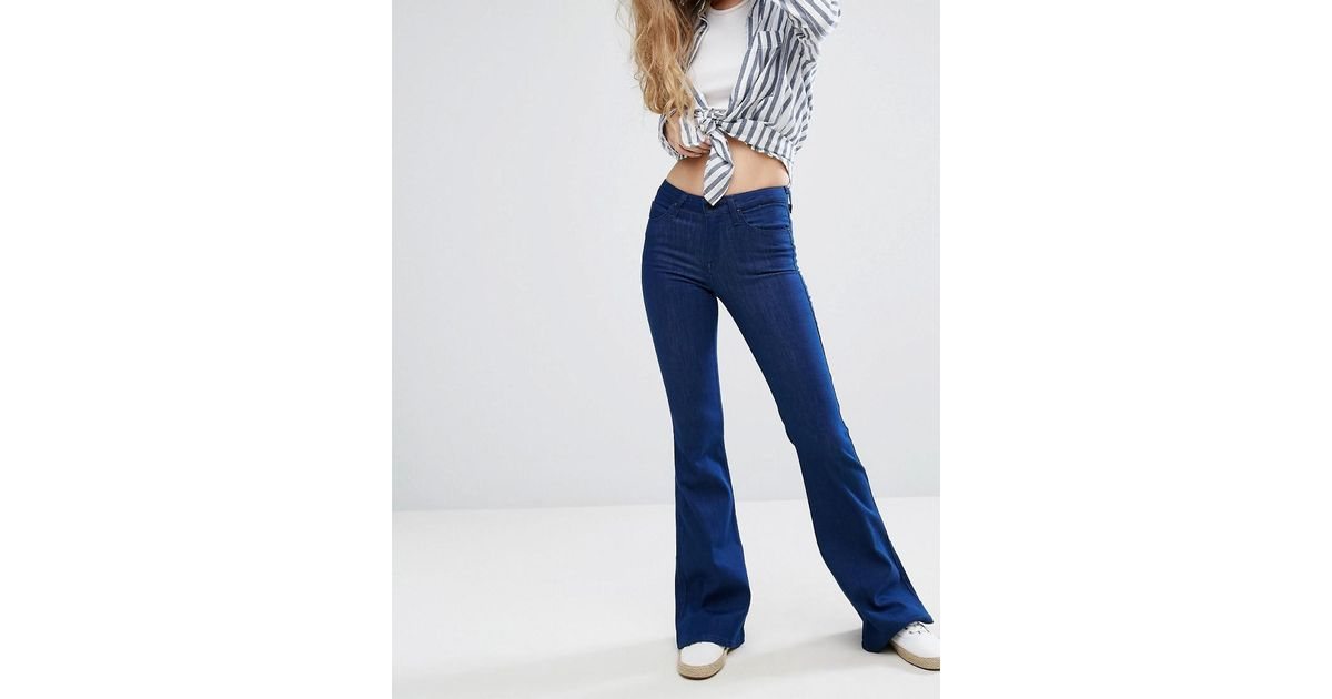 classic style on feet images of variety styles of 2019 Lee Jeans - Blue Skinny Flare Jeans - Lyst