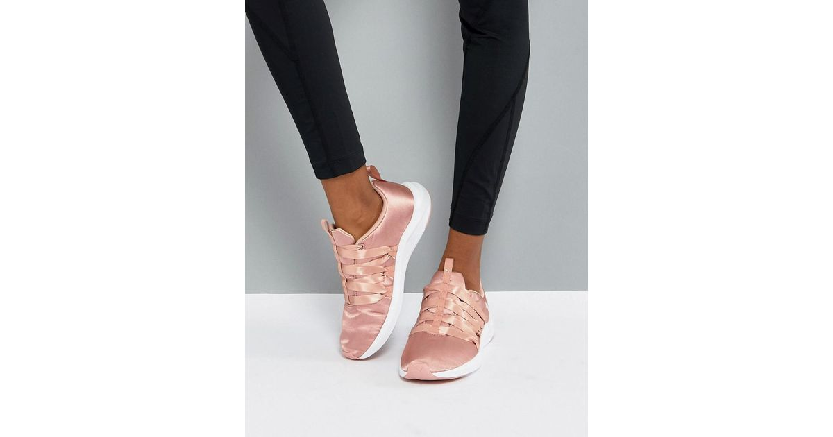 1d22a48f7e9e7 Lyst - PUMA Prowl Alt Satin Training Trainers In Dusky Pink in Pink