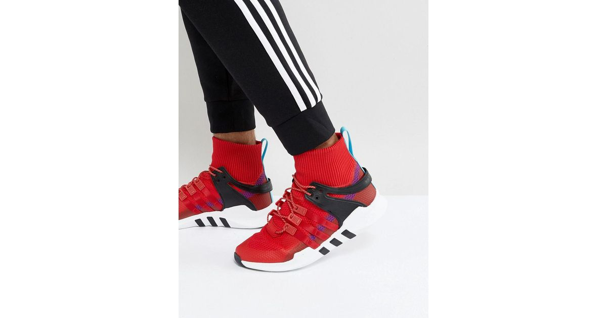 Adidas Originals Eqt Support Adv Winter Trainers In Red Bz0640 for men