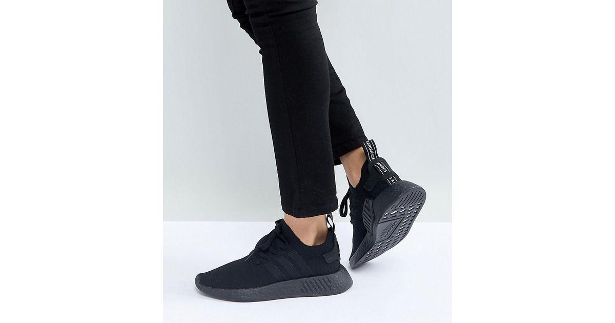Adidas Originals Originals Nmd R2 Trainers In All Black