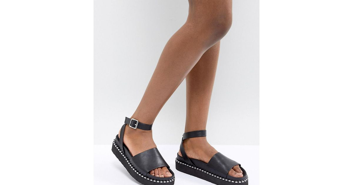 ASOS DESIGN Sandals In Black With Studs discount good selling how much online buy cheap cost tvGuFl
