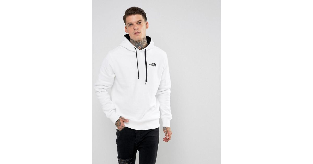 4423caa7d The North Face Seas Drew Peak Hoodie Small Logo In White for men