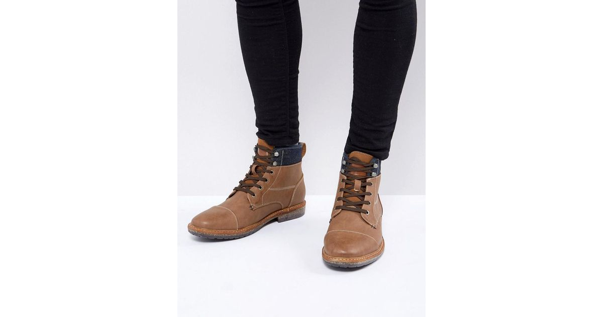 Call It Spring Simoneau Lace Up Boots in Tan - Tan Call It Spring UTkqKYO