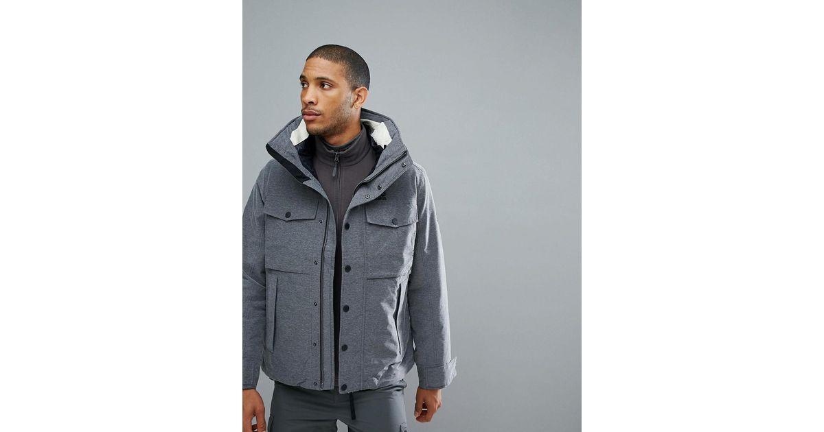 e3b42336f0 Jack Wolfskin Fraser Canyon 3 In 1 Jacket In Black in Gray for Men - Lyst