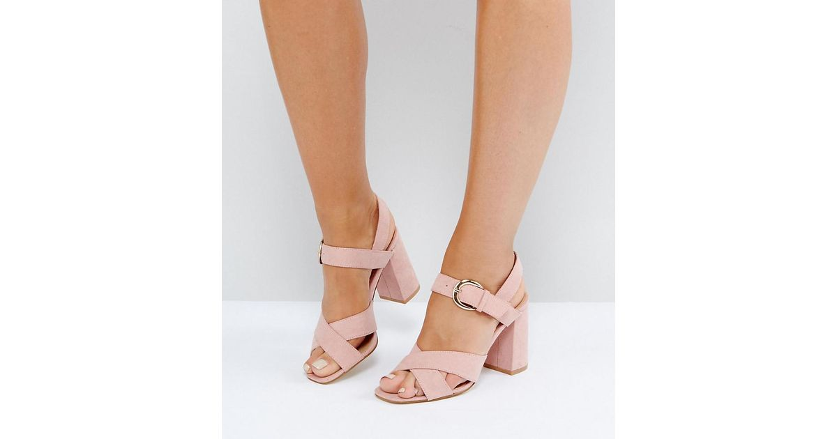 Truffle Collection Wide Fit Block Heel