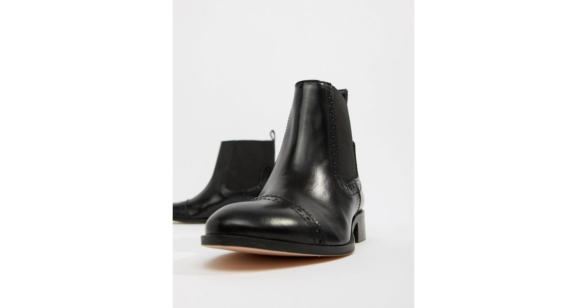 Dune Tyra Leather Chelsea Boots in
