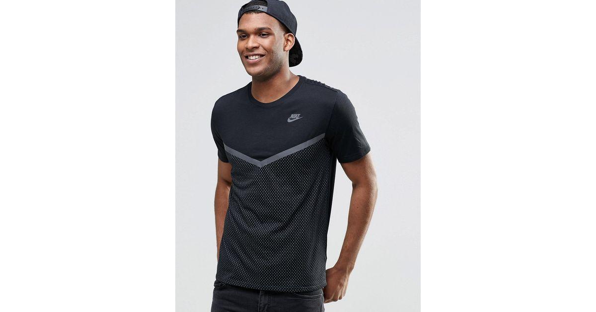 nike roshe run rose femme - Nike Futura T-shirt With Mesh Panel In Black 779844-010 in Black ...
