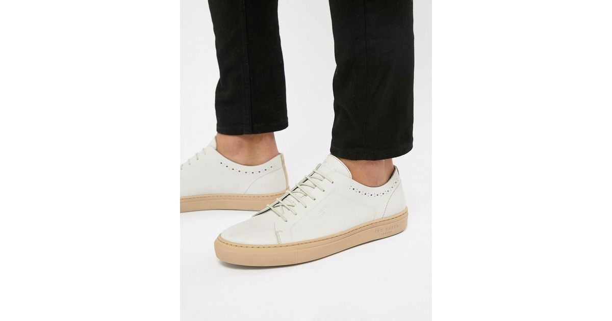 Ted Baker Uurll Leather Trainers In