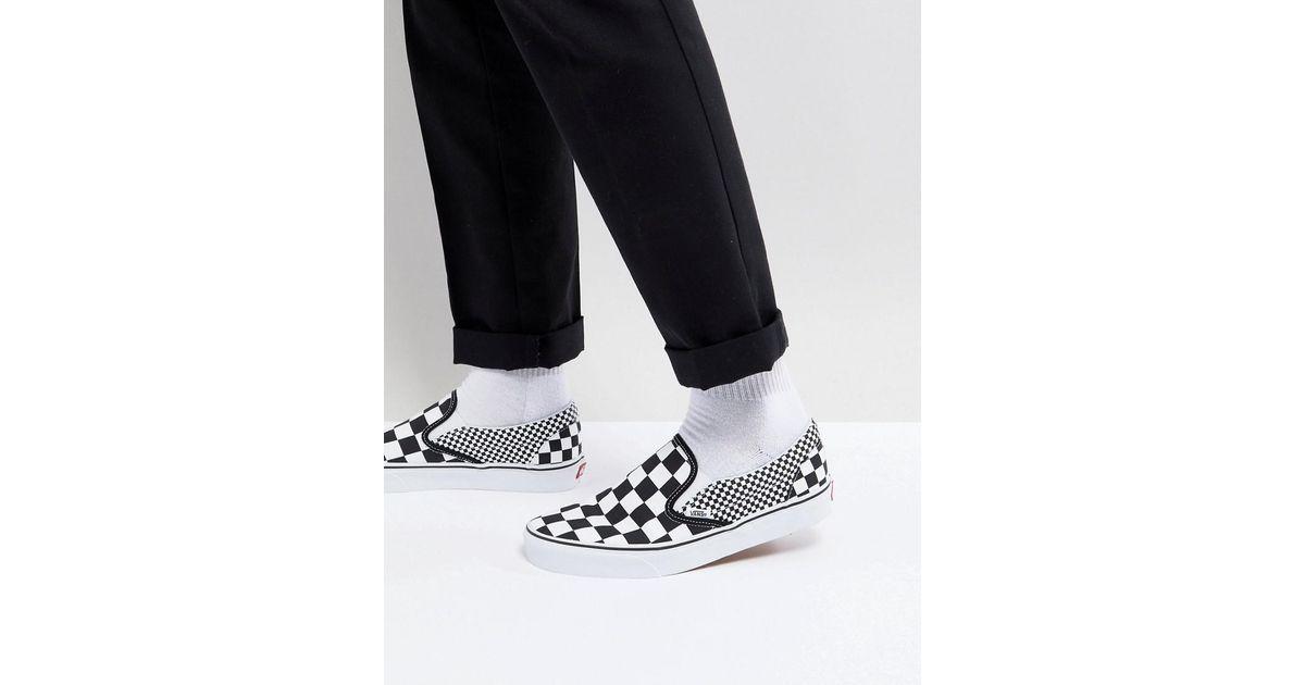 eeac44ee60 Vans Classic Checkerboard Slip-ons In Black Va38f7q9b in Black for Men -  Lyst