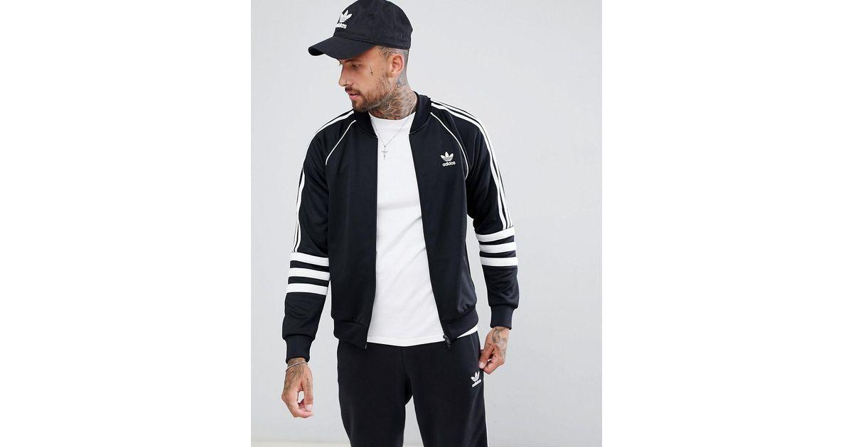 d8145402be611a adidas Originals Authentic Superstar Track Jacket In Black Dj2856 in Black  for Men - Lyst