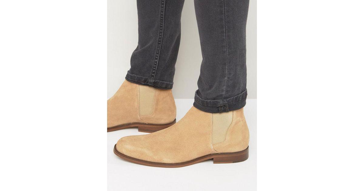508ec46e089 ALDO Natural Vianello Suede Chelsea Boots for men