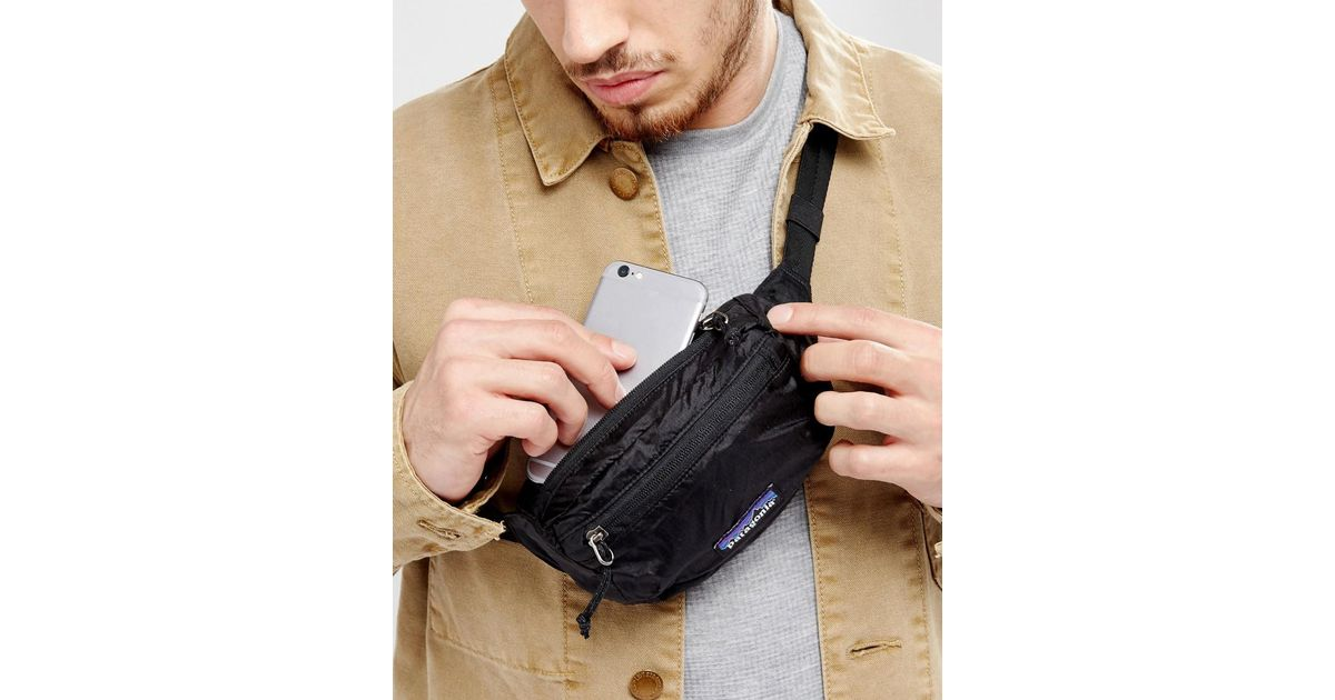 fast delivery order online new high Patagonia Synthetic Travel Mini Bumbag 1l In Black for Men - Lyst