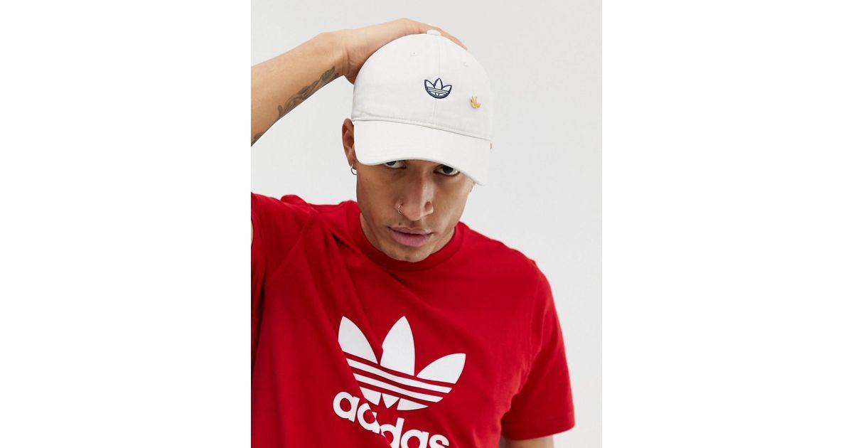 c9dbfdc49 Adidas Originals Samstag Dad Cap In White for men