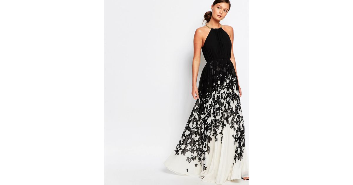 Lyst - Ted Baker Jolena Maxi Dress In Mono Chic Floral in Black