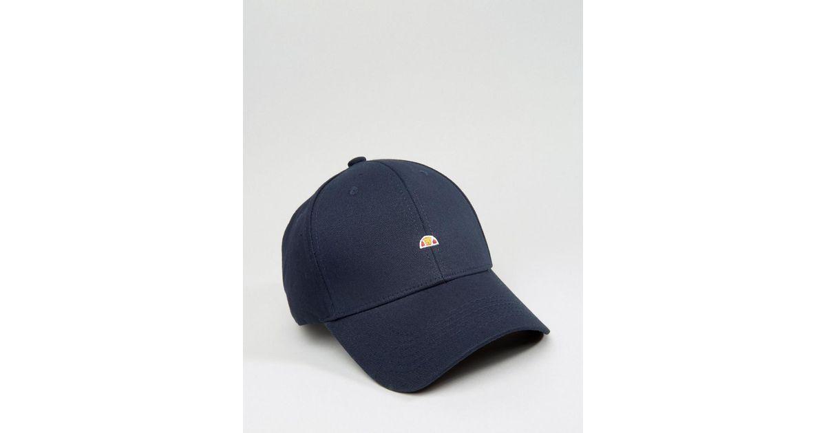800e86f61ed Ellesse Baseball Cap Small Logo in Blue for Men - Lyst