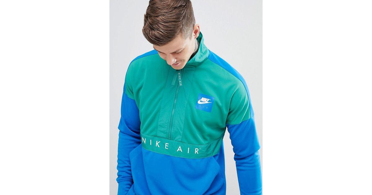 Nike Air Half Zip Windbreaker Jacket In Blue 918324-368 in Blue for Men -  Lyst 25b427173