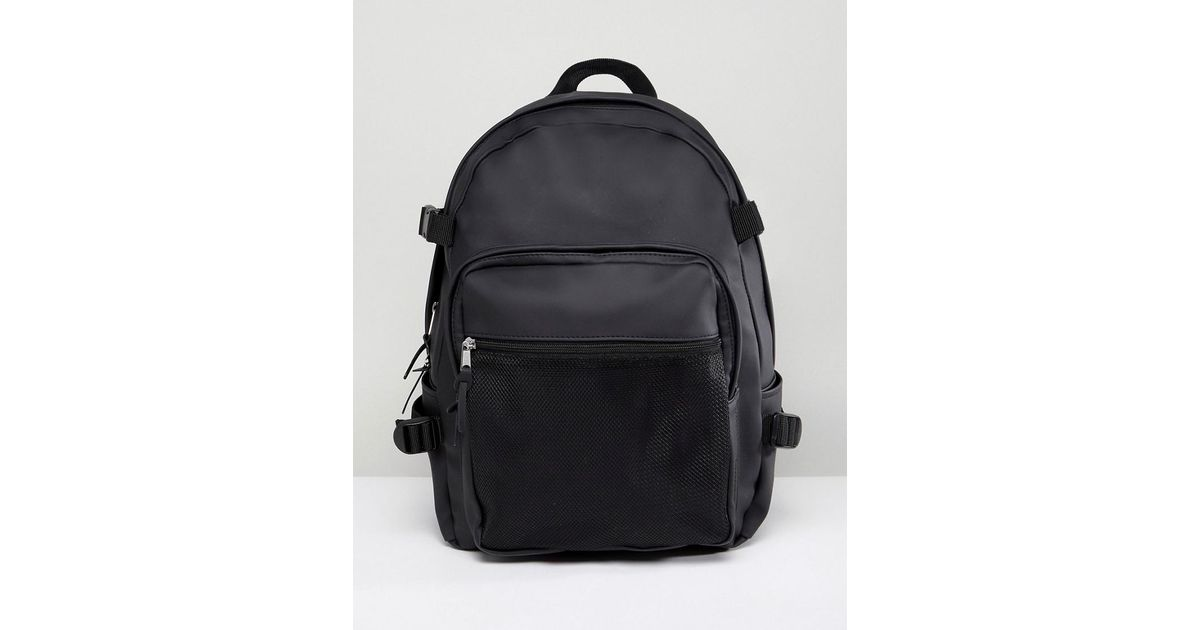 d4723eb16c Lyst - Sac à dos avec poche intérieure pour ordinateur portable et poche  maille en finition caoutchoutée ASOS pour homme en coloris Noir