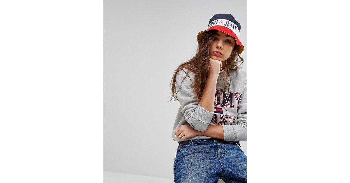 Lyst - Tommy Hilfiger Tommy Jean 90s Capsule Bucket Hat 1ef47a50767