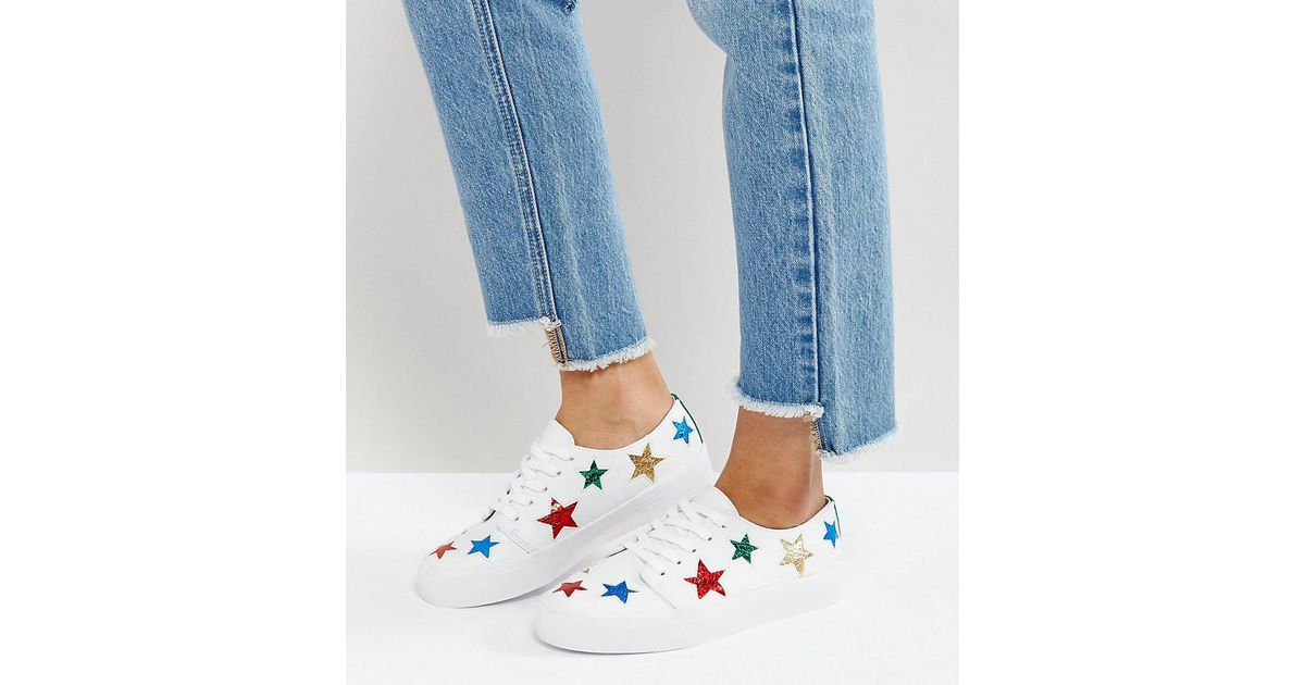 ASOS Dawn Star Trainers in White - Lyst